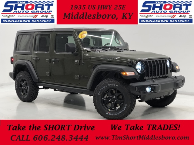 New 2020 Jeep Wrangler Unlimited Willys Sport Utility In Middlesboro J1506 Tim Short Dodge Chrysler Jeep Ram